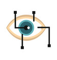 eye in virtual reality in flat style vector image vector image