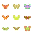 Flying butterfly icons set cartoon style vector image vector image