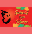 ganesh chaturthi greeting vector image vector image