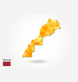 geometric polygonal style map of morocco low poly