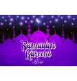 Greeting card or banner with mosques stars and vector image
