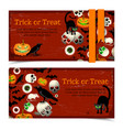 halloween horizontal banners vector image vector image