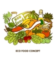 Hand Drawn Eco Food Concept vector image