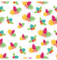 hand drawn tropic seamless pattern vector image vector image