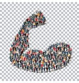hand isometric people 3d vector image