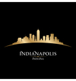 Indianapolis Indiana city skyline silhouette vector image