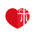 isolated heart shaped present vector image