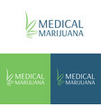 medical marijuana logo and icon 4 vector image