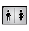 men and women restroom sign vector image vector image