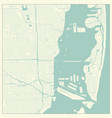 miami florida us city map in retro style outline vector image vector image