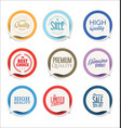 modern sale sticker and tag colorful collection 2 vector image vector image