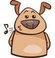 mood chill dog cartoon vector image vector image
