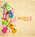 music abstract background vector image vector image