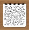 notebook design hameleon set vector image