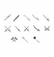 old swords and weapons vector image vector image