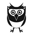 owl character icon simple style vector image