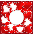 Pattern with white and red hearts vector image vector image