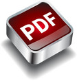pdf download icon button internet vector image vector image