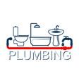plumbing service design symbol vector image vector image