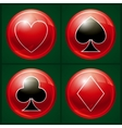 Poker casino button vector image