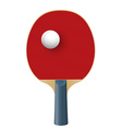 Racket for playing table tennis isolated on white vector image vector image