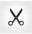 Scissors icon flat design vector image vector image