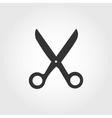 Scissors icon flat design