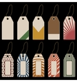 set tags with geometrical pattern vector image
