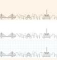 shantou hand drawn skyline vector image vector image