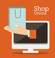 Shopping online design vector image vector image