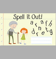 spell english word grandfather vector image vector image