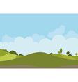 Spring Green Landscape vector image