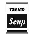 tomato soup can icon simple style vector image