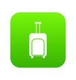 travel suitcase icon digital green vector image vector image