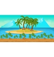 Tropical Beach Landscape For UI Game vector image vector image