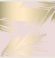 tropical worn floral pastel pink blush gold vector image vector image