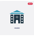two color houses icon from real estate concept vector image