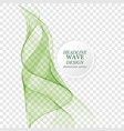 vertical green wave abstract wave on a vector image vector image