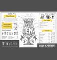 vintage cocktail menu design restaurant menu vector image vector image