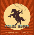 vintage rodeo poster vector image