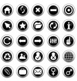 webpage icons collection vector image vector image