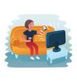 woman lying on sofa vector image