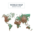 World Map Abstract Design vector image vector image