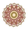 Mandala oriental symbol vector image