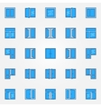 Window blue icons set vector image