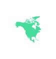 North America Icon vector image