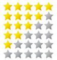 5 star rating eps10 isolated badge vector image vector image