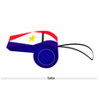 A Red White and Blue Whistle of Saba vector image