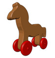 a wooden toy or color vector image vector image