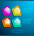 abstract business web infographics vector image vector image